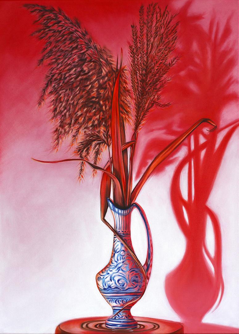 Still-life, peinture à l'huile sur toile, 73x100cm, 2020.