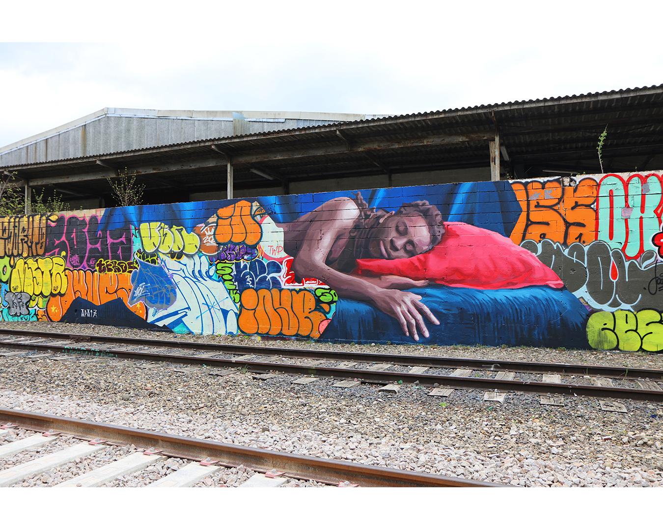 Graffiti, aux alentours de la rue de Cherbourg, Strasbourg, 2021